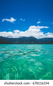 Views from the Kaneohe Bay Boat Ride - Sand Bar and Blue Skies
