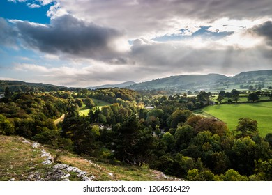 Views from the leete path near mold, flintshire, North Wales UK