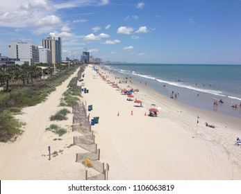 Views looking both North and South in Myrtle Beach South Carolina