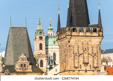 views of mala strana district in prague