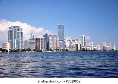 Views of the Miami Skyline along Brickell Avenue / Colors of Miami