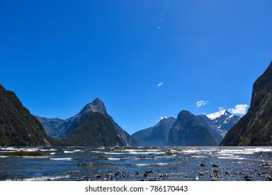 Views of Milford Sound, New Zealand, South Island, Fiordland