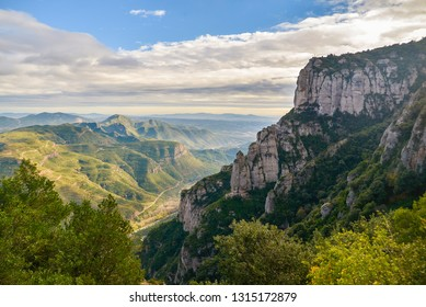 Views from Montserrat mountain, close to Barcelona, Catalonia, Spain