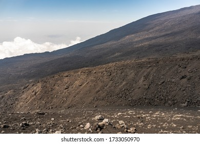 views of mount Etna at sunny day, Sicily, Italy