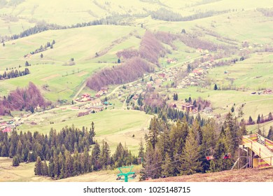 Views in the mountains. Landscape in the mountains. Spring landscape in the mountains. early spring. Carpathian Mountains, Ukraine, Western Ukraine, Pilipets.