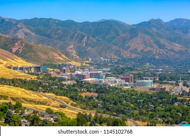 Views of mountains and the University of Utah