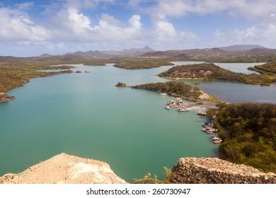 Views  on the Caribbean Island of Curacao Dutch Antilles