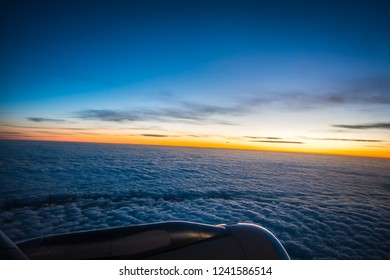 views out the window of an airplane