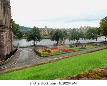 Views over Inverness in Scotland