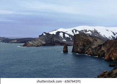 Views over Neptune's Bellows from Deception Island, Antarctica