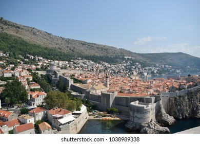 Views over the old town of Dubrovnik, Croatia