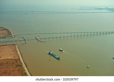 Views of the Pearl River Delta, Macao Bridges