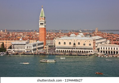 Views of the Piazza San Marco and Riva degli Schiavoni, Venice, Italy