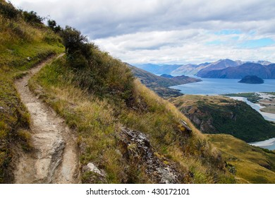 Views from Rocky Mountain Summit towards Lake Wanaka, New Zealand