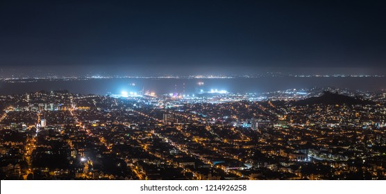 Views of San Francisco at night from Twin Peaks