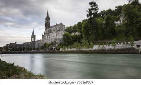 views of the sanctuary of Lourdes