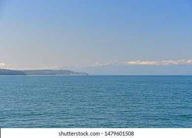 Views of the shoreline of Deception Pass as it enters the Salish Sea near Whidbey Island, Washington