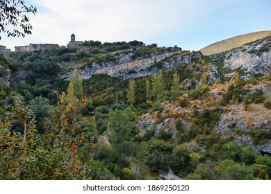 Views of Sierra de Guara National Park near Rodellar village, Huesca province in Aragon, Spain