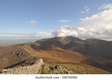 Views of Slieve Donard mountain in County Down, Northern Ireland. Part of the Mourne Mountains, it is the highest peak in Northern Ireland and It is also the 19th highest peak on the island of Ireland