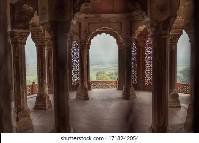 Views through the arches inside Mehrangarh Fort in Jodhpur. Picture taken on the 11/12/2019 in Jodhpur.