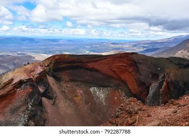 Views of the Tongariro Alpine Crossing and Tongariro Volcano, Taupo New Zealand