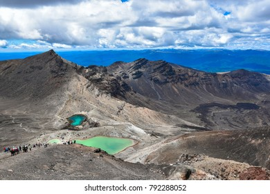 Views of the Tongariro Alpine Crossing and Tongariro Volcano, Taupo New Zealand