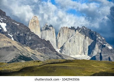 Views of Torres del Paine from Laguna Armaga. Patagonia, Chile