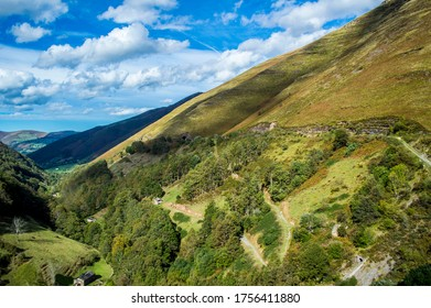 views of valley and mountains, landscape of vega de pas