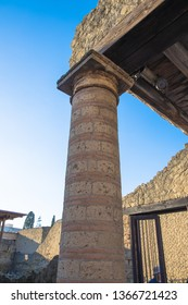Views of the various artefacts of the ancient Italian city of Herculaneum, Italy