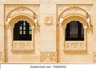 Views of Windows in jaisalmer, India