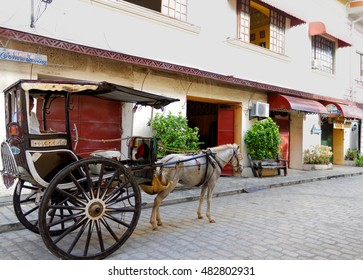 Vigan City, Ilocos Sur, Philippines - CRICA September 11, 2016: Vigan City in Ilocos Sur, Philippines is a world renowned city because of its preserved Spanish traditions.