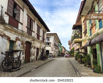 VIGAN, PHILIPPINES - July 24, 2015: The City of Vigan. It is a World Heritage Site in that it is one of the few Hispanic towns left in the Philippines. It has a population of 47,246