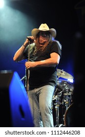 """Vigevano Italy, from 13 June to 24 July 2012, live concerts """"10 Giorni Suonati 2012"""" Festival at the Castle of Vigevano: Wednesday 13 June 2012, The  singer of Molly Hatchet,Phil McCormack"""
