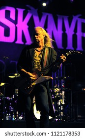 """Vigevano Italy, from 13 June to 24 July 2012, live concerts """"10 Giorni Suonati 2012"""" Festival at the Castle of Vigevano: Wednesday 13 June 2012, the guitarist of Lynyrd Skynyrd, Rickey Medlocke"""