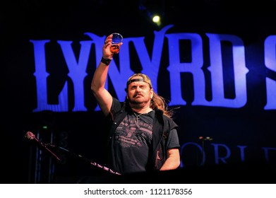 """Vigevano Italy, from 13 June to 24 July 2012, live concerts """"10 Giorni Suonati 2012"""" Festival at the Castle of Vigevano: Wednesday 13 June 2012, the singer of Lynyrd Skynyrd,  Johnny Van Zant"""