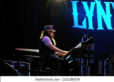 """Vigevano Italy, from 13 June to 24 July 2012, live concerts """"10 Giorni Suonati 2012"""" Festival at the Castle of Vigevano: Wednesday 13 June 2012, the keyboardist of Lynyrd Skynyrd,Peter Keys"""