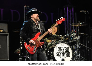 """Vigevano Italy, from 13 June to 24 July 2012, live concerts """"10 Giorni Suonati 2012"""" Festival at the Castle of Vigevano: Wednesday 13 June 2012, the bassist of Lynyrd Skynyrd,  Johnny Colt"""