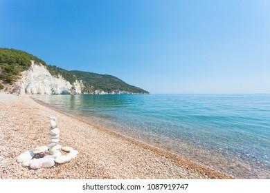Vignanotica, Apulia, Italy - Traditional rock formations at the beach of Vignanotica