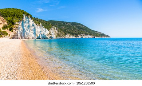 The Vignanotica beach, in Apulia region, south  Italy