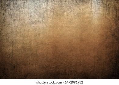 Vignette grunge, gekratzter Hintergrund, goldene Farbstruktur