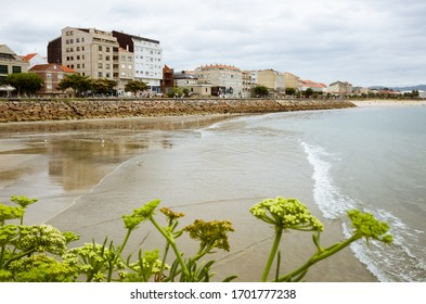 Vigo, Pontevedra province, Galicia, Spain - July 29th, 2018 : Cangas do Morrazo town on the Ria de Vigo estuary.