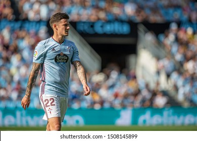 Vigo; Spain. 15 Sept; 2019. Santi Mina durign La Liga match between Real Club Celta de Vigo and Granada CF in Balaidos stadium; Vigo; final score 0-2