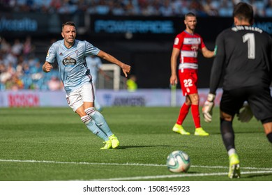 Vigo; Spain. 15 Sept; 2019. Iago Aspas during La Liga match between Real Club Celta de Vigo and Granada CF in Balaidos stadium; Vigo; final score 0-2