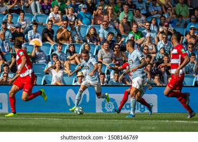 Vigo; Spain. 15 Sept; 2019. Iago Aspas during La Liga match between Real Club Celta de Vigo and Granada CF in Balaidos stadium; Vigo; final score 0-2