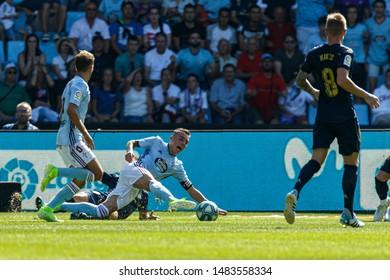 Vigo; Spain. 17 Aug; 2019. Iago Aspas during La Liga match between Real Club Celta de Vigo and Real Madrid in Balaidos stadium; Vigo; final score 1-3