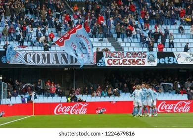 Vigo; Spain. 27 October; 2018. La Liga match between Real Club Celta de Vigo and SD Eibar in Balaidos stadium; Vigo; final score 4-0.