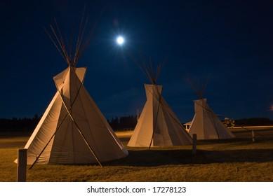 Vigvams at Kalispel tribe ground