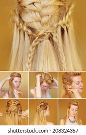 Viking braided hairdo tutorial