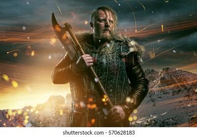 Viking during fight
