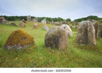The viking graveyard in Aalborg, Denmark